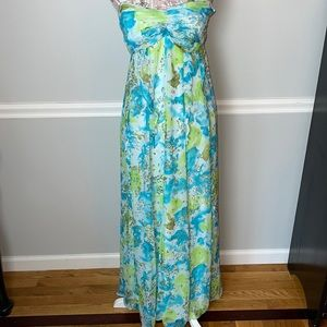 Calypso St. Barth Silk Floral Strapless Dress 4